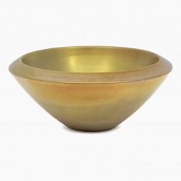 Ceramic Silver Gold Glazed Bowl