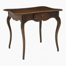 Oak Table with Serpentine Top