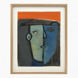 Abstract Watercolor Head by Raymond Debieve