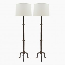 Pair of Iron Standing Lamps