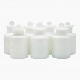 White Opaline Apothecary Bottles