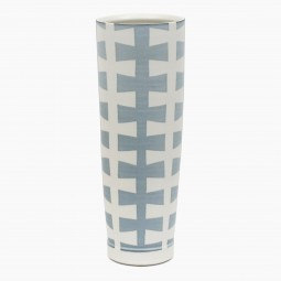 "Very Large Porcelain ""Zipper"" Vase"