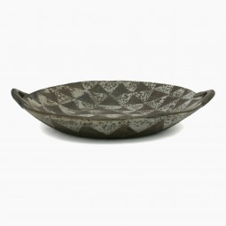 Brown and Gray Stoneware Bowl