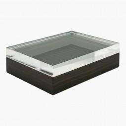 Macassar Ebony Box with Lucite Top