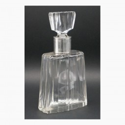 Crystal Decanter with Sterling Collar