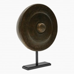 Hammered Patinated Brass Gong
