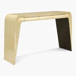 Italian Parchment Clad Console Table