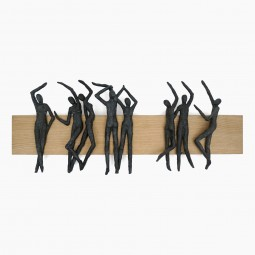 Wall Sculpture in Wood and Bronze