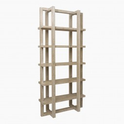 Five Shelf Bleached Wood Etagere