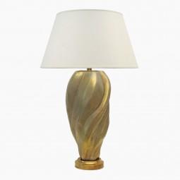 Gold Ceramic Free-Form Lamp