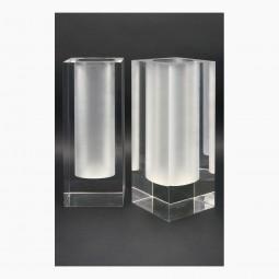 Pair of Lucite Vases