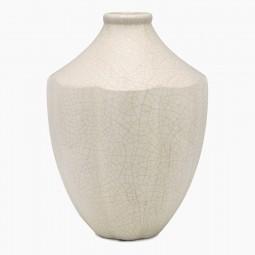 White Crackle Ceramic Vase
