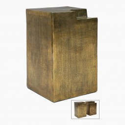 Bronze Finished Metal Side Tables