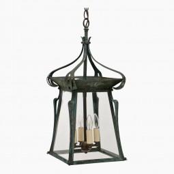 Art Nouveau Patinated Lantern