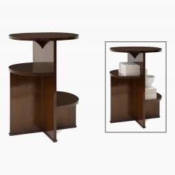Oval Walnut Asymmetrical Table