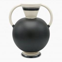 Black and Cream Italian Studio Vase