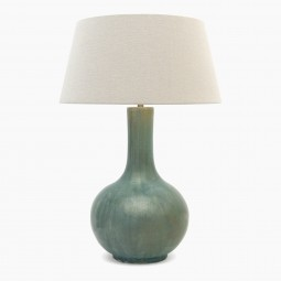 Light Blue/Green Stoneware Lamp