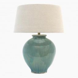 Light Blue Green Stoneware Lamp