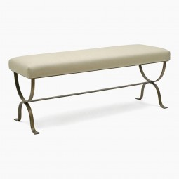 Gilt Iron Curule Form Bench