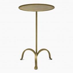 Texture Iron Tripod Drinks Table