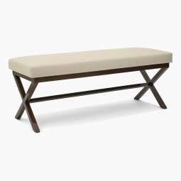 Walnut X-Form Bench