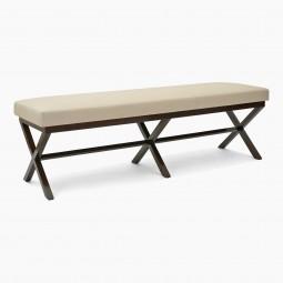Long X-Form Walnut Bench