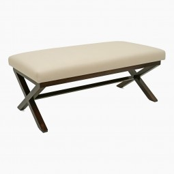 Upholstered X-Form Ottoman