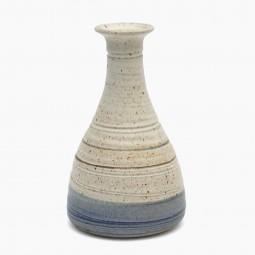 Studio Beige and Blue Stoneware Vase