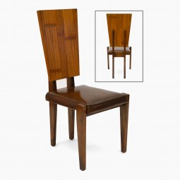 Oak and Bamboo Chair by Andre Sornay