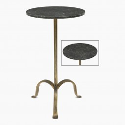 Gilded Iron Tropod Table with Marble Top