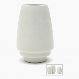 Porcelain Vase with Stepped Base