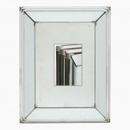 Stepped Framed Mirror