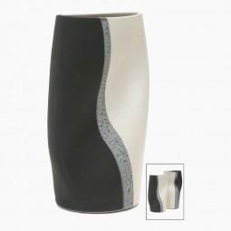 Gray, Black and White Porcelain Vase