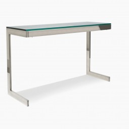 Nickel and Glass Console Table