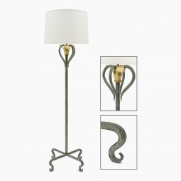 Patinated Standing Lamp