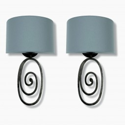 Oval Iron Sconces