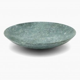 Large Green Marble Bowl