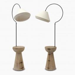 Natural Wood Lamp Table