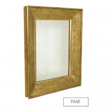 Pair of Textured Gilt Wood Mirrors