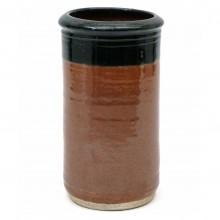 Rust and Black Stoneware vase by Geo Guccione