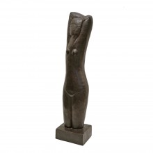Patinated Metal Sculpture of Female Torso