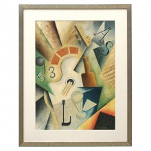 French Cubist Style Gouache Painting