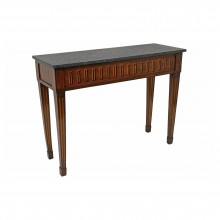 Italian Inlaid Console Table with Marble Top