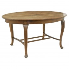 French 19th Century Oval Chestnut Table