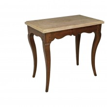 French 18th Century Oak and Marble Table