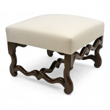 Louis III Walnut Os de Mouton Ottoman