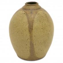 Mid Century Beige Pottery Vase