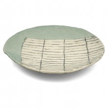 Porcelain Plate with Abstract Design