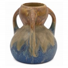 French Metenier Vase with Two Handles