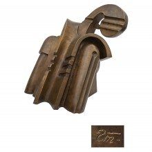 Large Bronze Abstract Sculpture